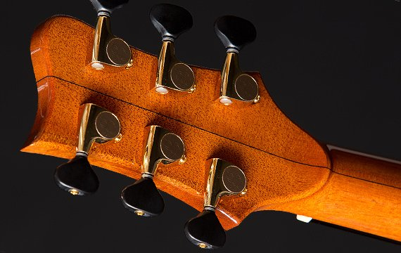 Greenfield Guitars | Fine woodworking, Lutherie, Guitarmaking, Acoustic Guitars, Model G5 mahogany neck, peghead volute