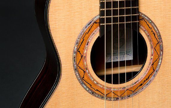 Greenfield Guitars | Fine woodworking, Lutherie, Guitarmaking, Acoustic Guitars, Model G5, soprano guitar, Sitka spruce, east Indian rosewood, ebony pin bridge