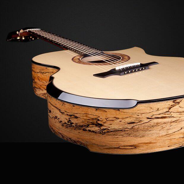 Greenfield acoustic Guitar model G4 fanned fret Manchinga