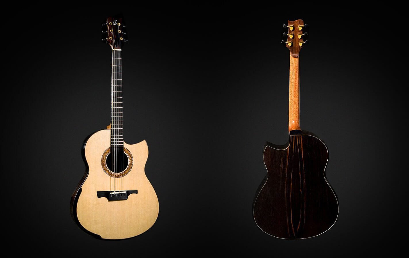 Greenfield Guitars | Fine handmade Acoustic Guitars Model G2, Lutz spruce, Brazilian rosewood, Laskin arm rest