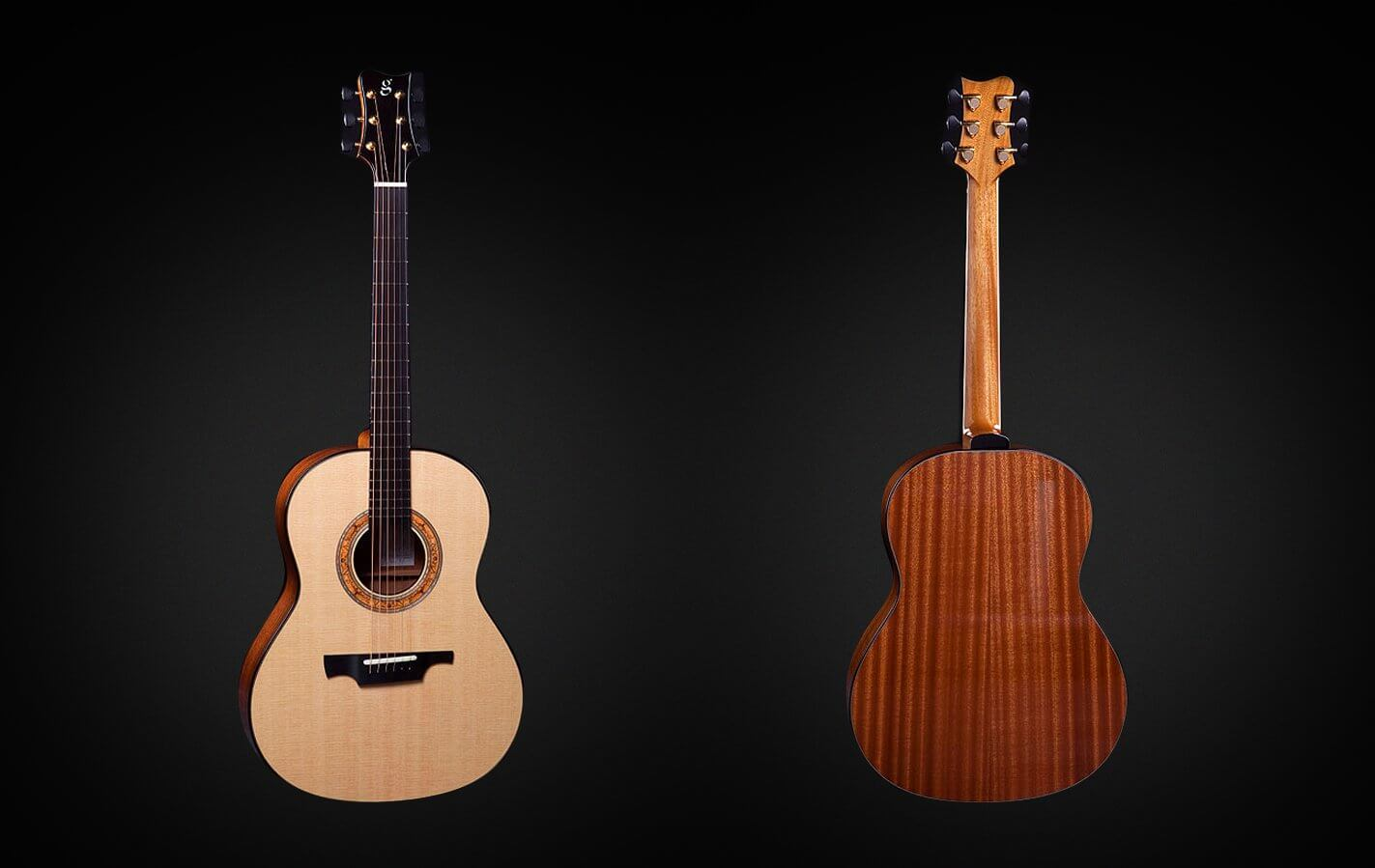 Greenfield Guitars | Fine handmade Acoustic Guitars Model GF, Sitka spruce, sapele mahogany, non-cutaway