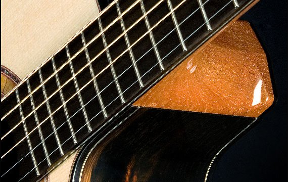 Greenfield Guitars | Fine woodworking, Lutherie, Guitarmaking, Acoustic Guitars, Model G2, ebony fingerboard, carved heel swoosh, Brazilian rosewood