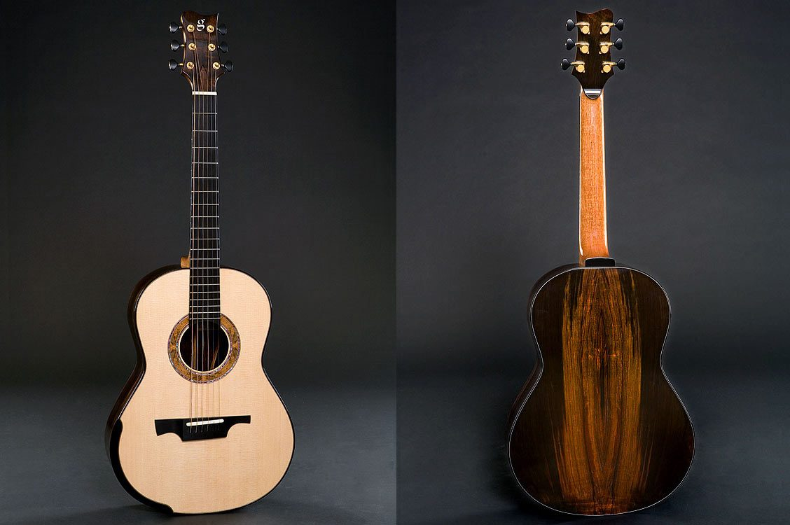 Greenfield Guitars | Fine handmade Acoustic Guitars Model G3, Brazilian rosewood, Lutz spruce, laskin arm rest