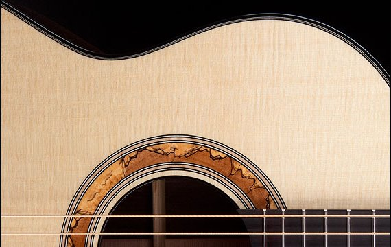 Greenfield Guitars | Bespoke Guitars, Custom made, Concert guitars, Sitka spruce, Greenfield Guitars maple rosette