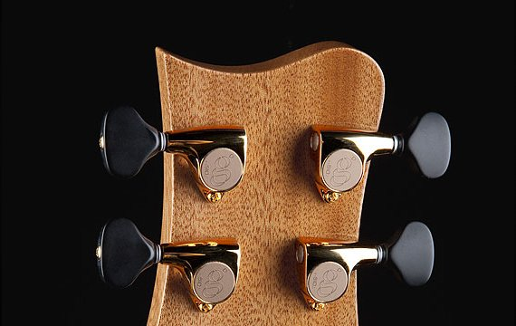 "Greenfield Guitars | Bespoke Guitars, Custom made, Concert guitars, Greenfield Guitars peghead, mahogany, Greenfield Guitars ""g"" 510 tuners"