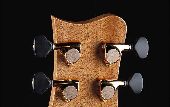 "Greenfield Guitars | Bespoke Guitars, Custom made, Concert guitars, Greenfield Guitars peghead, mahogany, Greenfield Guitars ""g"" 510 tuners"