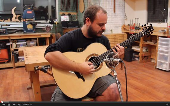 Greenfield Guitars | Model GF, Sitka spruce, east Indian rosewood, Florentine cutaway, Andy McKee, YouTube