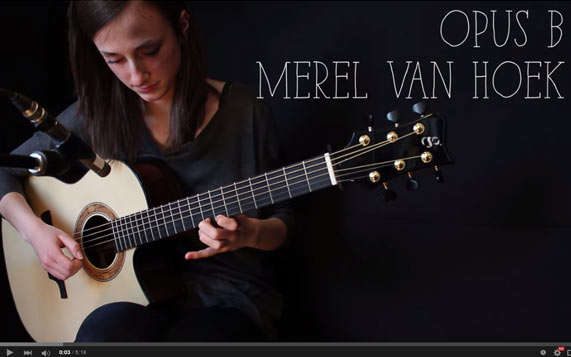 Greenfield Guitars | Model GF, Sitka spruce, east Indian rosewood, Florentine cutaway, Merel van Hoek, YouTube