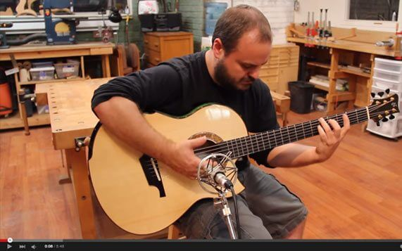 Greenfield Guitars | Andy McKee, model G2 baritone YouTube