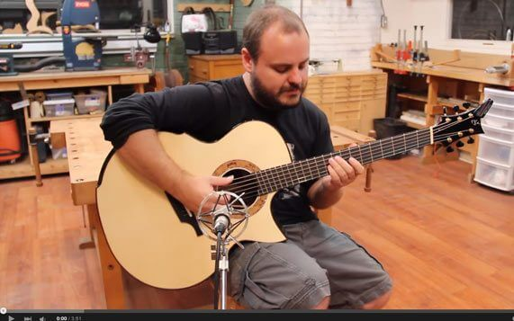 Greenfield Guitars | Model G4, Andy McKee, Andy McKee model, Macassar Ebony, Adirondack red spruce, DADGAD fanned frets, YouTube