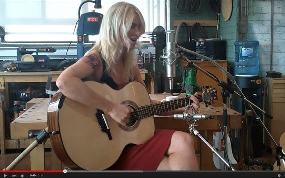 Greenfield Guitars | Model G4, Mahogany, DADGAD fanned frets, Brooke Miller, YouTube