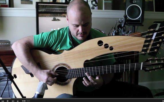 Greenfield Guitars | Model HG, Harp Guitar, Andy McKee, YouTube